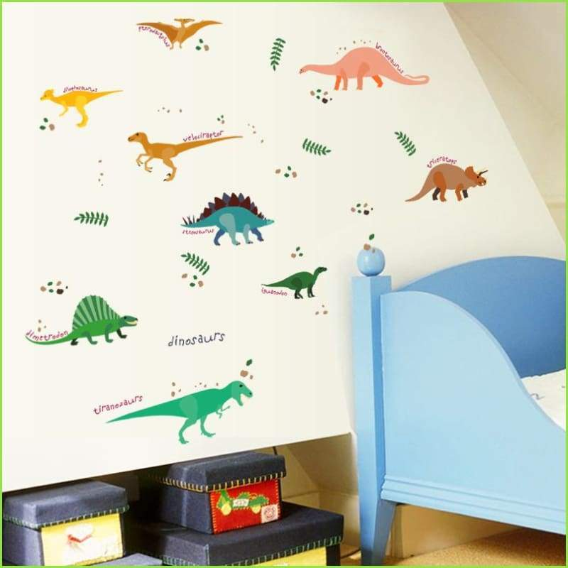 dinosaur bedroom stickers, wall decals, free delivery over £20