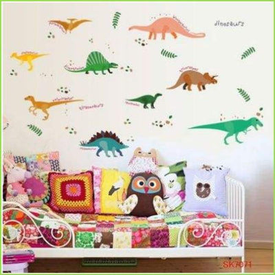 Colour Dinosaur Wall Stickers on WallStickersForKids