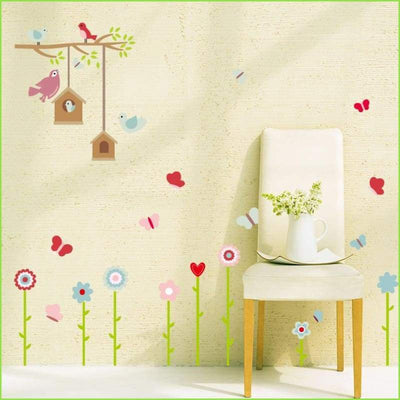 Bird Tree Skirting Border on WallStickersForKids