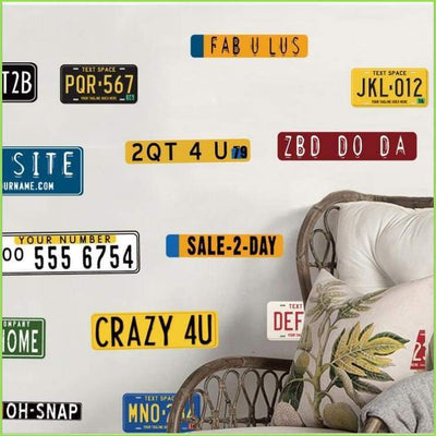 License Plates Wall Decals on WallStickersForKids