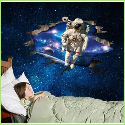 3D Space Astronaut Wall Stickers on WallStickersForKids