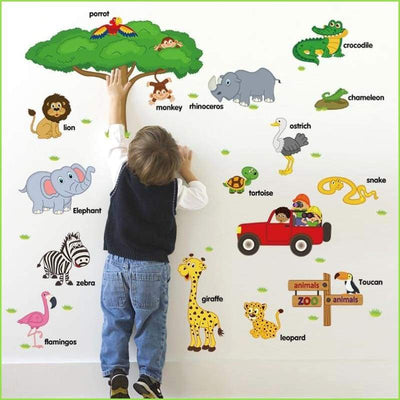 Zoo Animals Wall Stickers on WallStickersForKids