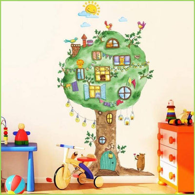 Fun Tree House Wall Stickers on WallStickersForKids