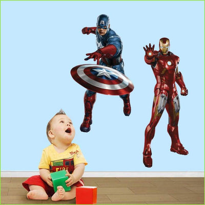 Avengers Iron Man Captain America Wall Stickers on WallStickersForKids