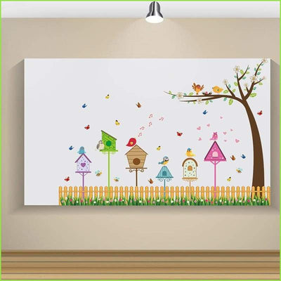 Spring Bird House Tree Decals on WallStickersForKids