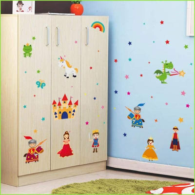 Knights Princess Unicorns Decals on WallStickersForKids