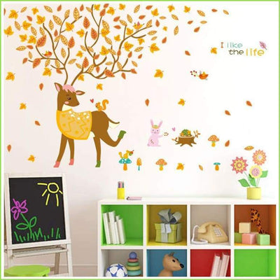 Deer Jungle Wall Sticker Decals on WallStickersForKids