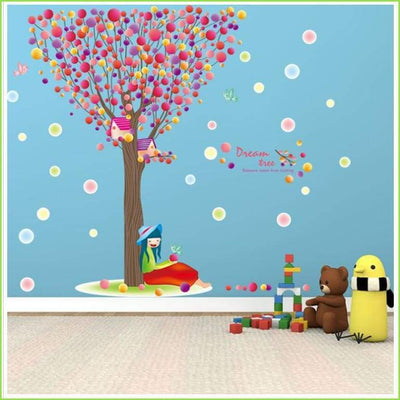 Colour Balloon Tree Wall Sticker on WallStickersForKids