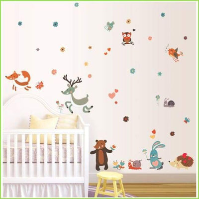New Woodland Animals Wall Decals on WallStickersForKids