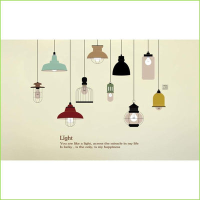 Vintage Lights and Lamps Wall Stickers on WallStickersForKids