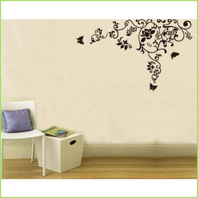 Home Flower Vine Wall Decals on WallStickersForKids