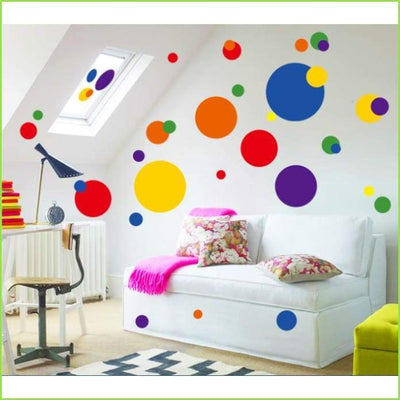 Circle Wall Art Stickers on WallStickersForKids