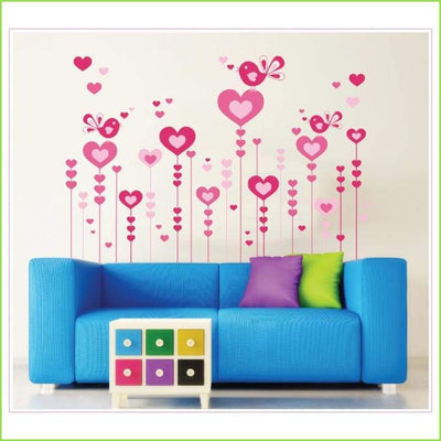Love Hearts Wall Stickers on WallStickersForKids