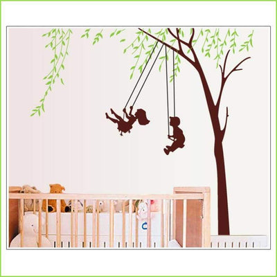Kids Tree Swing Wall Stickers on WallStickersForKids
