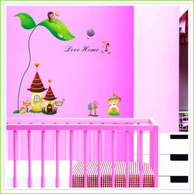 Beanstalk Castle Wall Stickers on WallStickersForKids