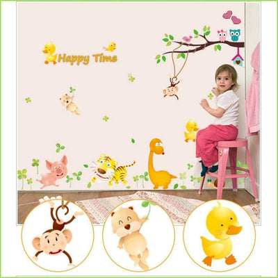Happy Time Branch Decals on WallStickersForKids