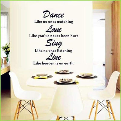 Dance Quote Wall Art Decal on WallStickersForKids