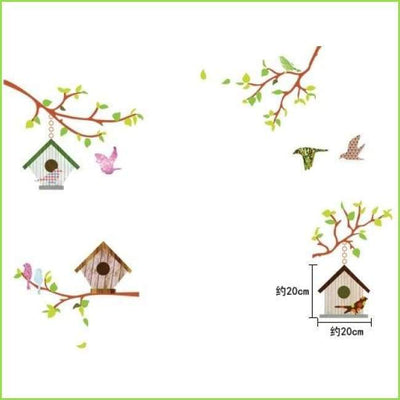 Vintage Bird House Decals on WallStickersForKids