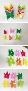Yellow 3D Butterfly Stickers on WallStickersForKids