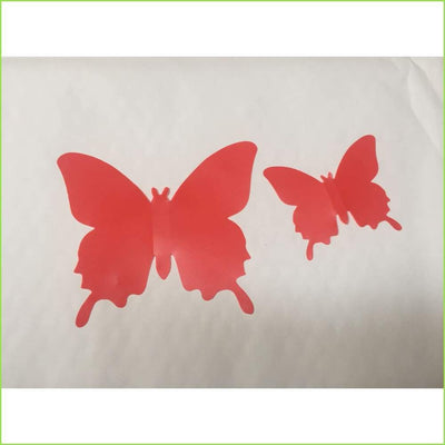 Red 3D Butterfly Stickers on WallStickersForKids