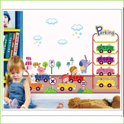 Play Garage Wall Sticker on WallStickersForKids