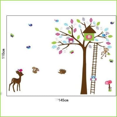 Deer Tree Wall Sticker on WallStickersForKids
