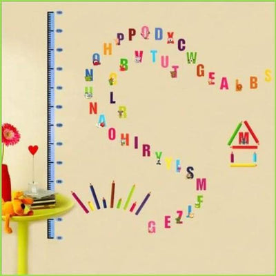 Alphabet Height Chart Wall Sticker on WallStickersForKids