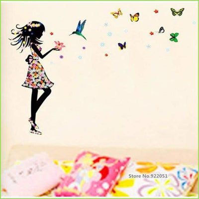 Glamour Girl Wall Art Decal on WallStickersForKids