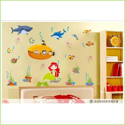 Submarine Bathroom Stickers on WallStickersForKids