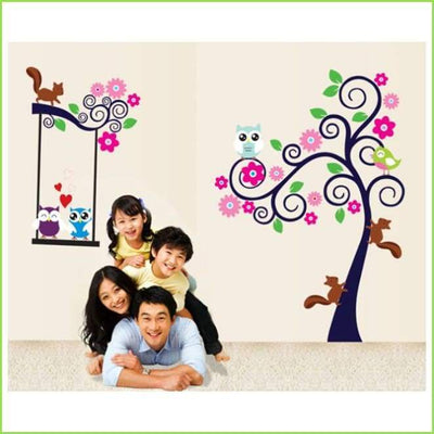 Owl Tree Wall Sticker on WallStickersForKids