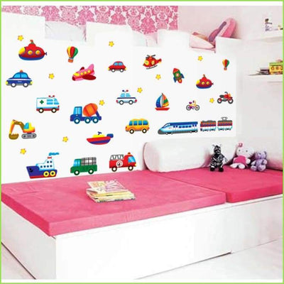 Kids Transport Wall Decals on WallStickersForKids