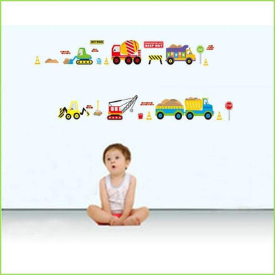 Diggers & Lorries Wall Stickers on WallStickersForKids