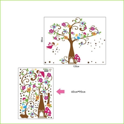 Angel Fairy Tree Wall Decal on WallStickersForKids