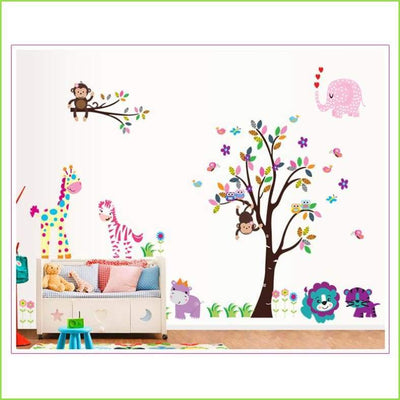 Animal Jungle Wall Sticker XL on WallStickersForKids