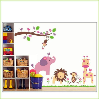 Large Jungle Wall Sticker on WallStickersForKids