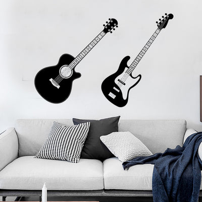 Guitars Wall Stickers for Kids