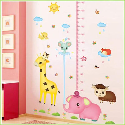Animals Cute Height Chart - Decals