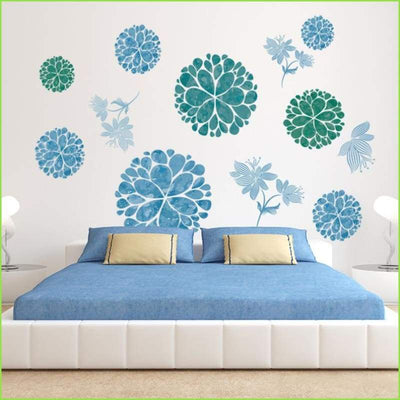 Blue & Green Design Decals