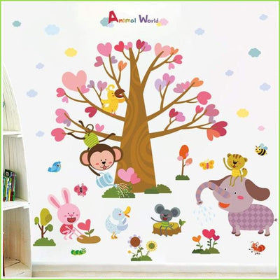 Colour Fun Tree Wall Stickers - Decals