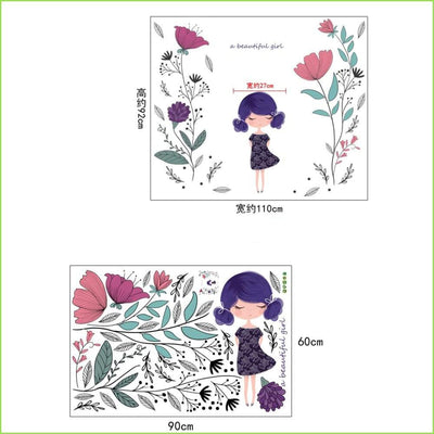 Flower Girl Decals