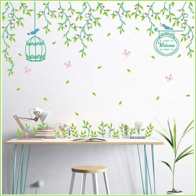 Green Vines Wall Stickers - Decals