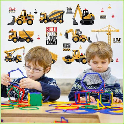 Kids Construction Diggers Decals - Decals