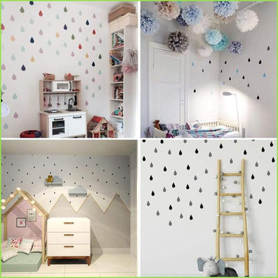 Large Raindrop Wall Stickers