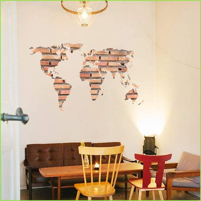 Trendy World Map Decal