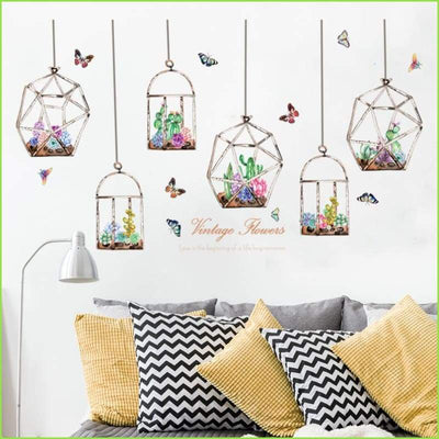 Vintage Flowers Wall Decals - Decals