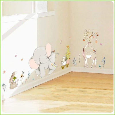 Watercolour Animals Wall Stickers - Decals
