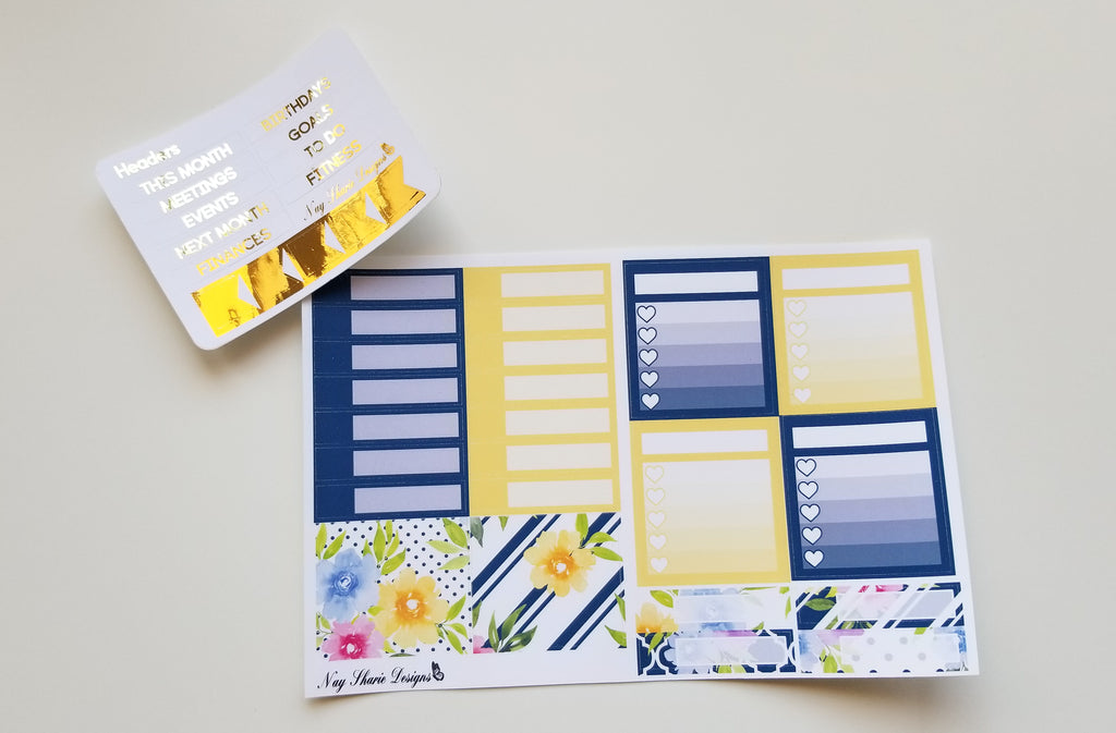 Foiled August Monthly and Notes New Day