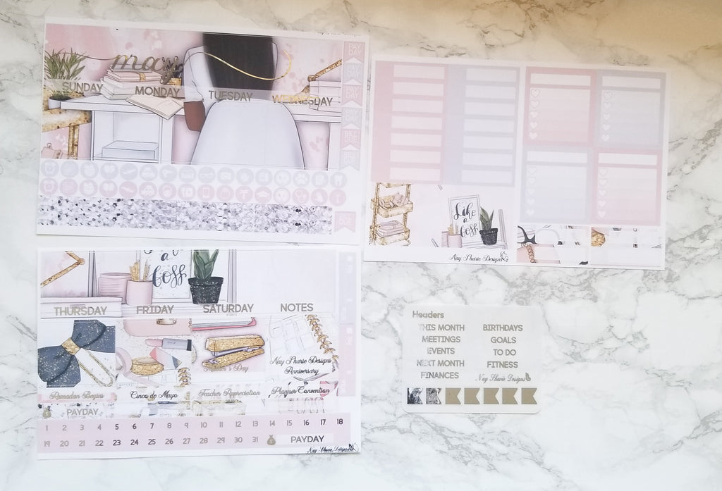 Foiled May Monthly and Notes Shop Owner