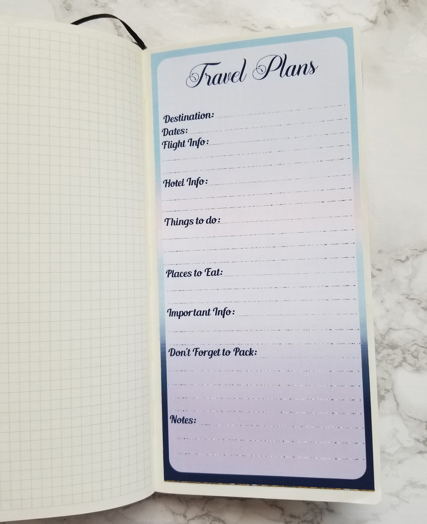 Travel Plan Notes Page for the Hobonichi