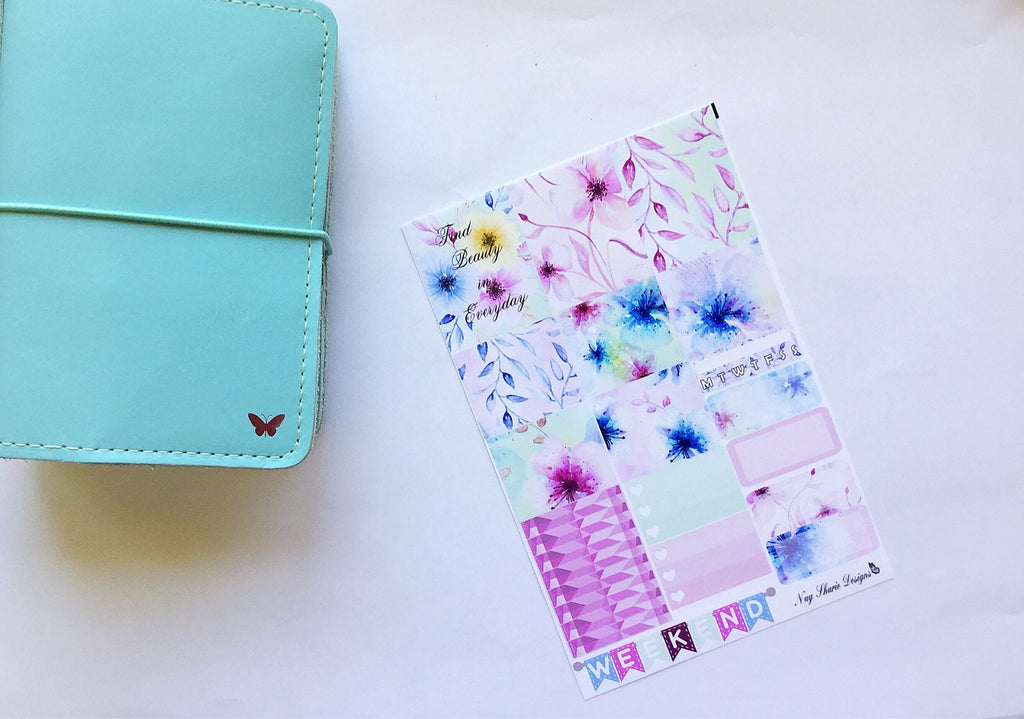 Floral Burst Travelers Notebook Kit for the B6 and Pocket